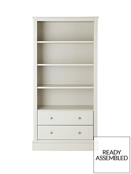 consort-dover-large-ready-assembled-bookcase-white