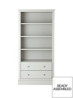 consort-dover-large-ready-assembled-bookcase-grey