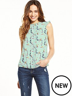 oasis-lotus-bird-split-sleeve-shell-top