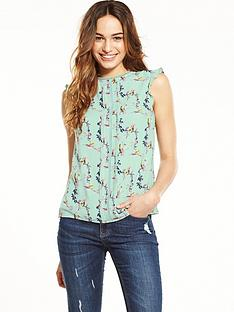 oasis-oasis-lotus-bird-split-sleeve-shell-top
