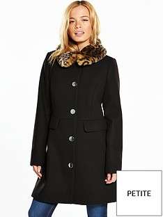 v-by-very-petite-petite-dolly-coat-with-faux-fur-collar-black