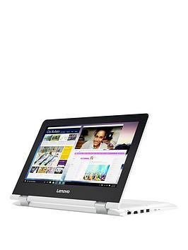 Lenovo Lenovo Yoga 30011Ibr Intel Celeron 4Gb Ram 500Gb Hard Drive 11.6In Touchscreen 2 In1 Laptop White  Laptop With Microsoft Office 365 Home