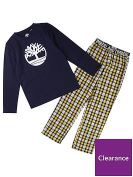 timberland-boys-logo-print-pyjamas