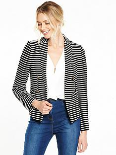 wallis-double-breasted-stripe-jacket-monochrome