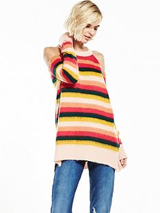 river-island-stripe-cold-shoulder-jumper