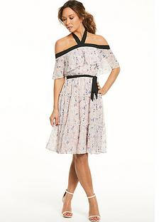 myleene-klass-contrast-strap-ruffle-dress