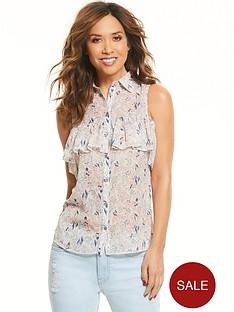 myleene-klass-sleeveless-ruffle-front-blouse