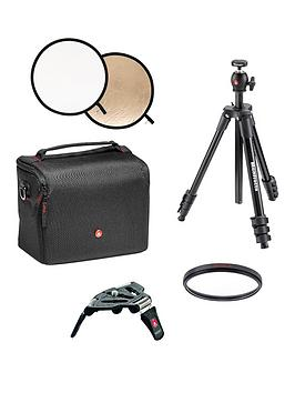Manfrotto Photography Essentials Bundle Including Dslr Camera Shoulder Bag For All Nikon Dslr Camera&039S
