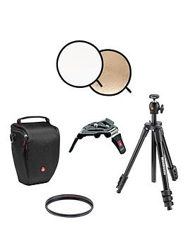 Manfrotto Photography Essentials Bundle Including Dslr Camera Holster Bag For All Nikon Dslr Camera&039S
