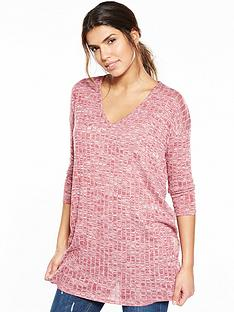 v-by-very-jersey-knit-ribbed-v-neck-tunic-topnbsp