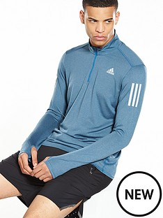 adidas-response-running-long-sleeve-zip-top-bluenbsp