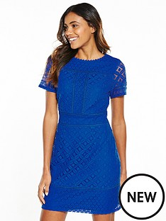 oasis-isla-lace-shift-dress-cobalt