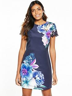 oasis-georgia-shiftnbspdress-navy