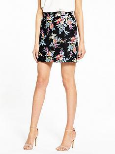 oasis-violet-print-skirt
