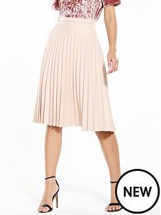 oasis-faux-leather-pleat-midi-skirt-blush