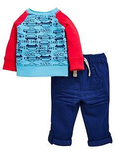 ladybird-baby-boys-car-ls-tee-and-woven-trouser-set