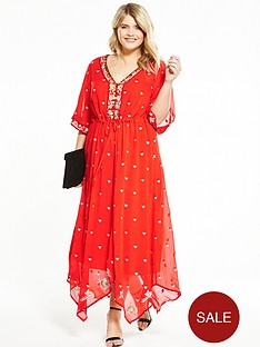 v-by-very-curve-embroidered-midi-dress