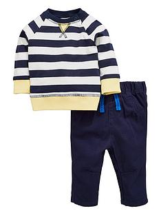 ladybird-baby-boys-stripe-ls-tee-and-woven-trouser-set