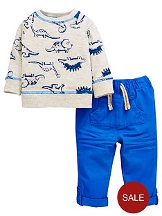 ladybird-baby-boys-dinosaur-ls-tee-and-woven-trouser-set