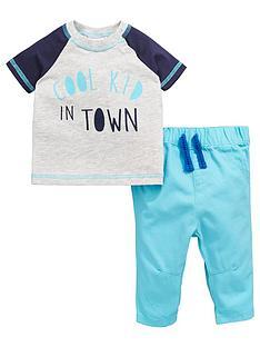 ladybird-baby-boys-slogan-ss-tee-and-woven-trouser-set