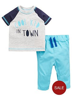 ladybird-baby-boys-slogan-ss-tee-and-woven-trouser-set