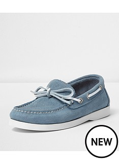 river-island-boys-suede-deck-shoe