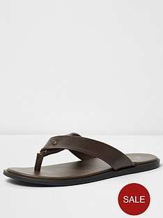 river-island-mens-leather-flip-flop