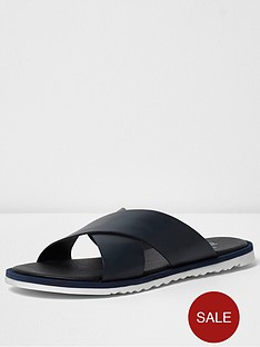 river-island-cross-over-leather-sandal
