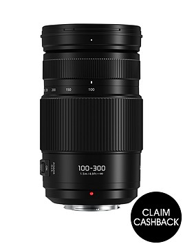 panasonic-lumix-g-lens-vario-100-300mm-f40-56-ii-power-ois-blacknbsp-pound50-cash-back-available