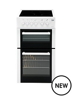 beko-bdc5422aw-twin-cavity-electric-cooker-white-next-day-delivery