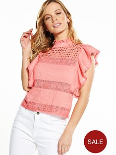 v-by-very-petite-frill-cotton-blouse-coral