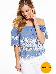 v-by-very-petite-embroidered-bardot-top