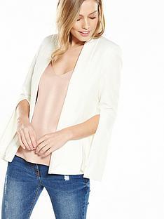 miss-selfridge-ivy-split-sleeve-jacket-ivory