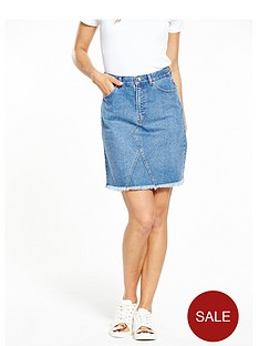 warehouse-5-pocket-denim-skirt