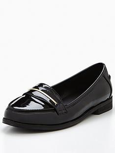 v-by-very-star-patent-gold-trim-loafer-black