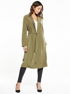 miss-selfridge-channel-waist-duster-coat-khaki