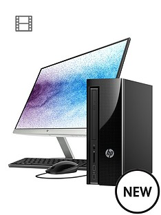hp-slimline-411-a025na-intel-pentiumnbsp8gb-ramnbsp1tb-hard-drive-desktop-pc-with-22-inch-monitor-black
