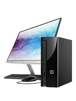 Hp Slimline 411A025Na Intel&Reg Pentium&Reg 8Gb Ram 1Tb Hard Drive Desktop Pc With 22 Inch Monitor  Black  Desktop Only