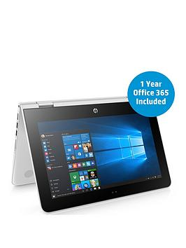 Hp Stream X360 11Aa003Na Intel&Reg Celeron&Reg Processor 2Gb Ram 32Gb Storage 11.6 Inch Touchscreen 2In1 Laptop With 1 Year Office 365 Included  White  Laptop Only