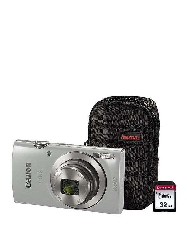 Canon Ixus 185 Camera Kit Including 32gb Sd Card And Case Silver Littlewoods Com