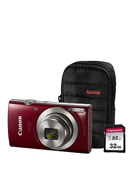 Canon Canon Ixus 185 Camera Kit Inc 8Gb Sd Card And Case  Red