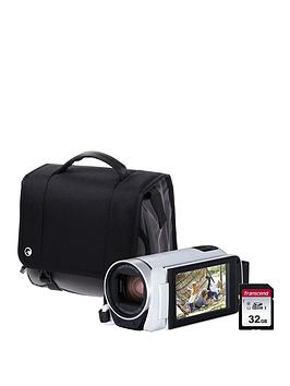 Canon Legria Hf R806 Camcorder Kit Inc 32Gb Sd Card And Case  White
