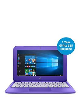 Hp Stream 11Y002Na Intel&Reg Celeron&Reg N3060 Processor 2Gb Ram 32Gb Storage 11.6 Inch Laptop With 1 Year Office 365 Included  Purple  Laptop Only