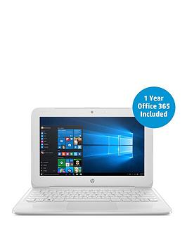 Hp Stream 11Y003Na Intel&Reg Celeron&Reg N3060 Processor 2Gb Ram 32Gb Storage 11.6 Inch Laptop With 1 Year Office 365 Included  White  Laptop Only