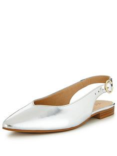 v-by-very-leather-slingback-point-flat-silver-metallic