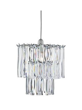 Lara 2Tier Acrylic Easy Fit Pendant