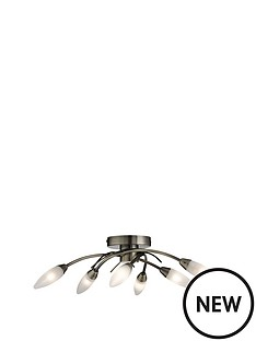 rita-6-light-flush-frosted-glass-pendant