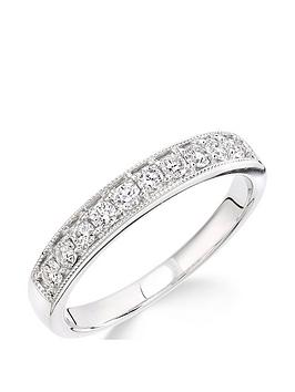 Love DIAMOND Love Diamond 9Ct White Gold 33 Point Millgrain Set Eternity  ... Picture