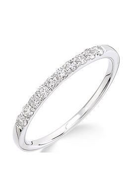 Love DIAMOND Love Diamond 9Ct White Gold 25 Point Micro Setting Eternity  ... Picture