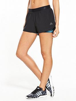 Adidas 2 In 1 Print Short  Black
